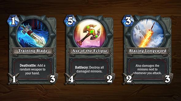 hearthstone arena blizzcon cards warrior