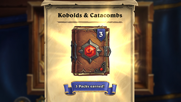 hearthstone kobolds catacombs quest delay free packs