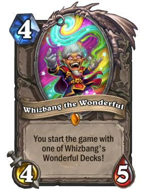Hearthstone Whizbang the Wonderful