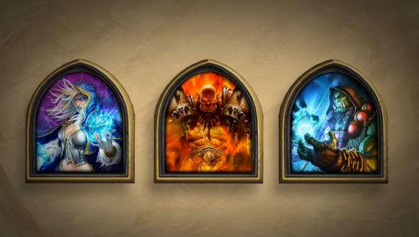Hearthstone's golden heroes