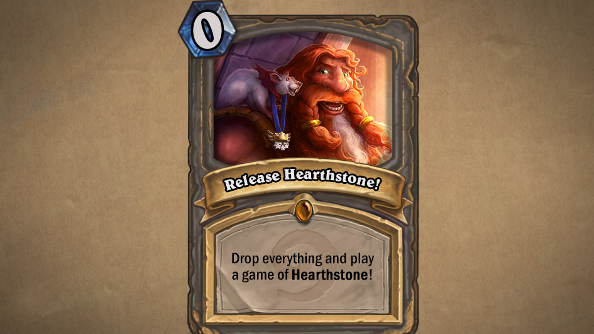 Cancel your engagements: Hearthstone just launched