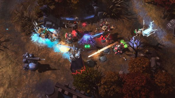 The Heroes of the Storm alpha: bustling.