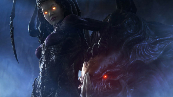 Kerrigan, and one of her faithful insectoid pets.