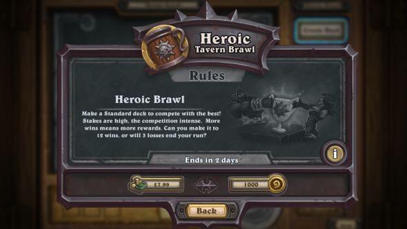 Heroic Tavern Brawl success