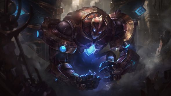 Hextech Galio splash art
