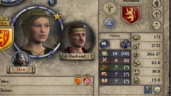 Testing Hillary Clinton's presidential skills in Crusader Kings 2