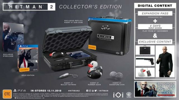 hitman 2 release date collector's edition