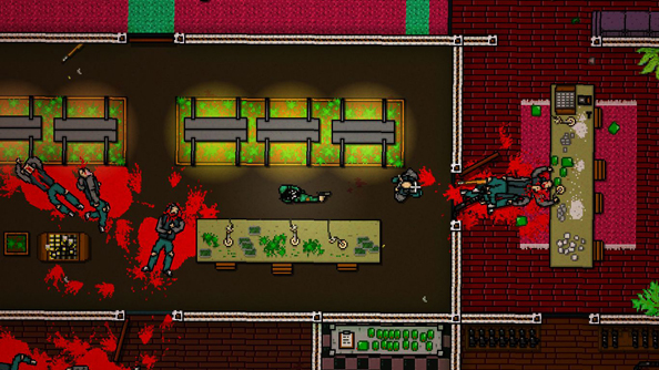 Hotline Miami 2: drenched decor.