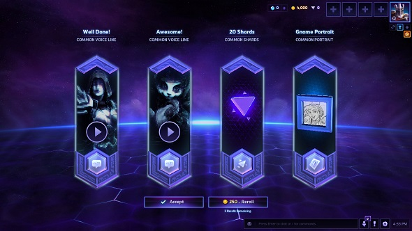 HOTS opening loot chests