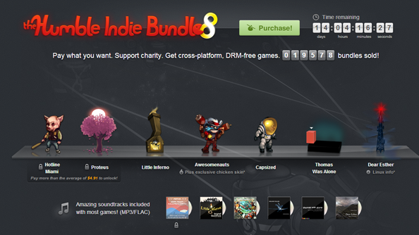 Humble Bundle 8 comes full of indie fun: Hotline Miami, Proteus, Capsized, Dear Esther, and more