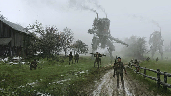 An Iron Harvest mech