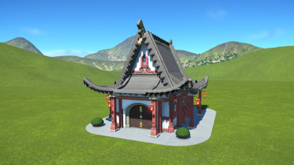 japanese temple planet coaster