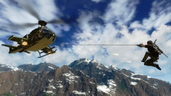 Just Cause 2 multiplayer mod will grapple your heart