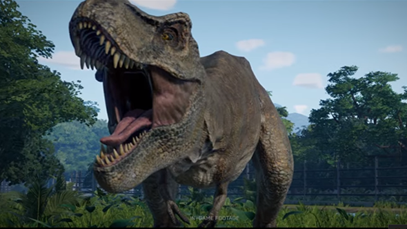 jurassic world evolution gameplay trailer