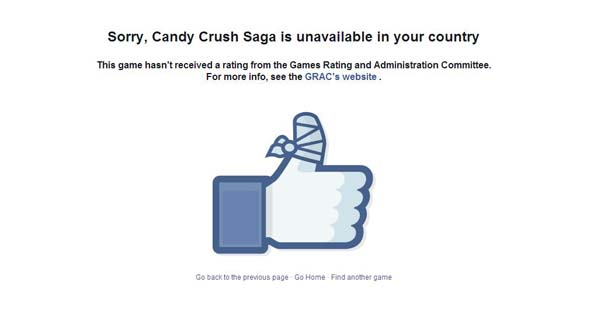 Candy Crush Saga was among the first wave of Facebook games to be affected.