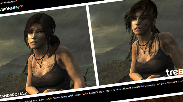 AMD reinvents hair with TressFX. Lara Croft gets a fabulous new hairdo
