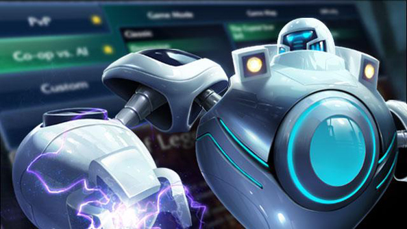 League of Legends bots are not made of polished steel, sadly - they look just like players.