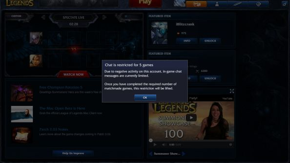 A familiar sight for the most toxic players in League of Legends.