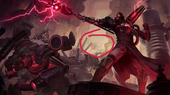 Vel'Koz is the creepy chap drifting out of the mists there. Play nice.