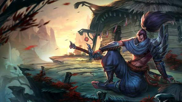Riot on Yasuo, League of Legends champion.