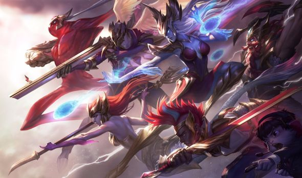 League of Legends SKT skins splash