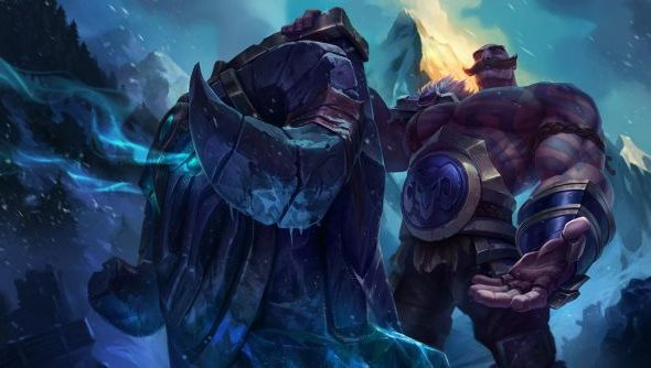 Braum, the Heart of the Freljord: great circus facial hair.