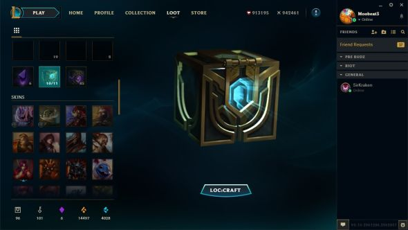 League of Legends client update loot