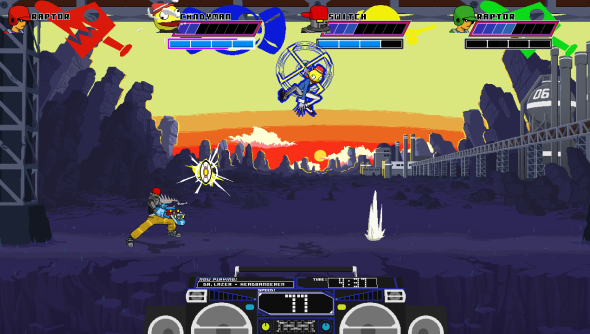 Lethal League upholds the proud fighting game tradition of allowing two players to select the same character - in different palettes.