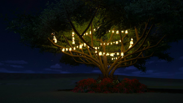 lights tree planet coaster