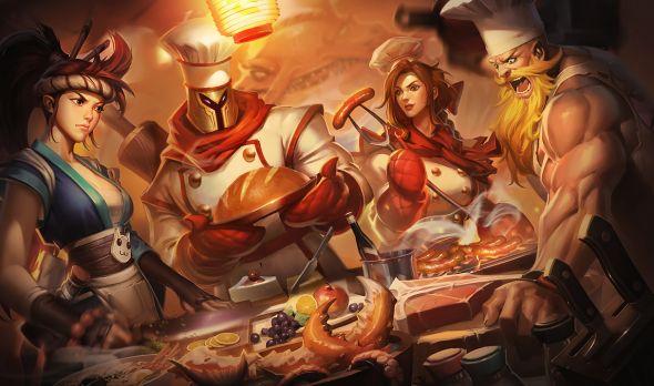 League of Legends baking skin splash art