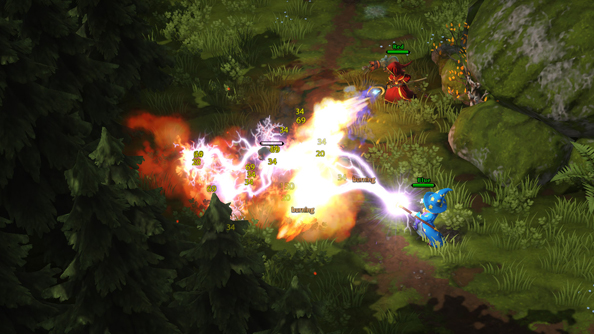 Magicka: Wizard Wars footage turns the air blue with bolts of electricity and friendly fire