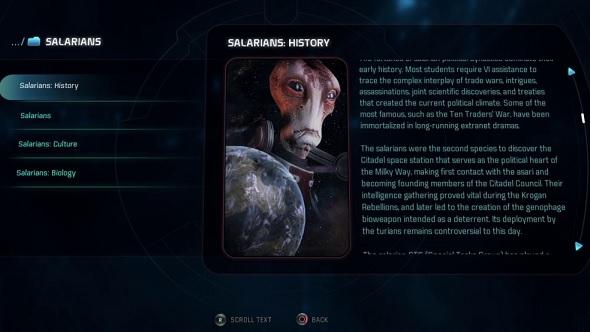 Mass Effect Andromeda codex
