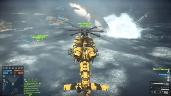 Battlefield 4's elusive megalodon finally discovered hanging out in a Naval Strike map
