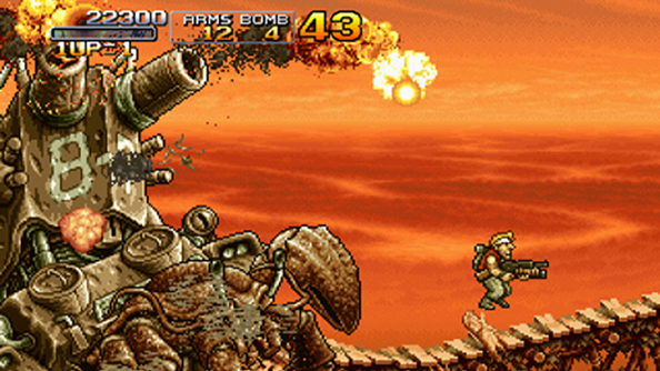 Humble PC and Android Bundle pairs Skulls of the Shogun with its opposite - Metal Slug 3