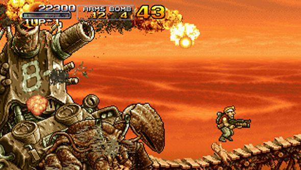 Metal Slug 3 was originally released in the year 2000, but looks like 1990.