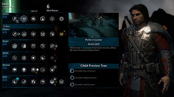 middle-earth shadow of war skill tree