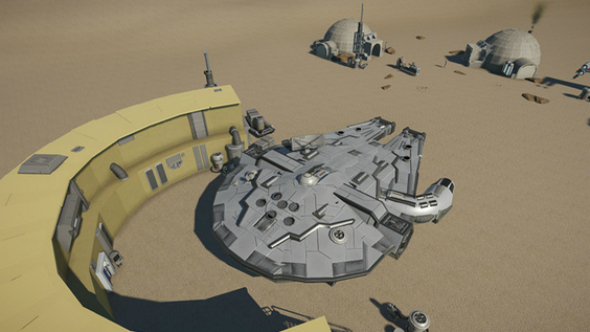 millenium falcon planet coaster creations