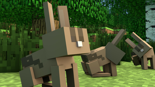 Minecraft rabbits: a good resource, but you have to look into those eyes when you kill them.
