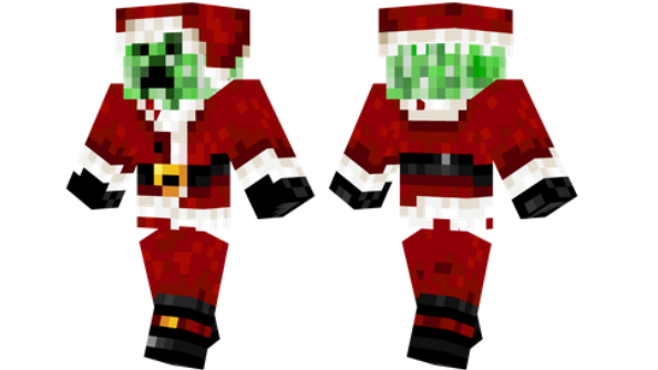 Santa Creeper Minecraft Christmas Skin
