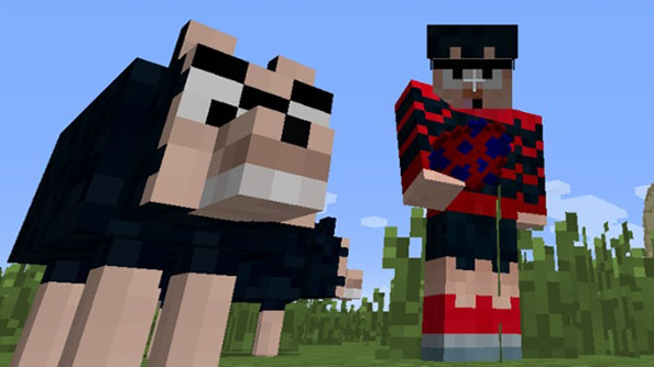 Chortle: The Beano commission official Dennis and Gnasher Minecraft mod