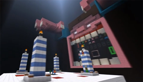 Cake Defense 2 is one of the more inventive maps to be taken up by the Minecraft community.
