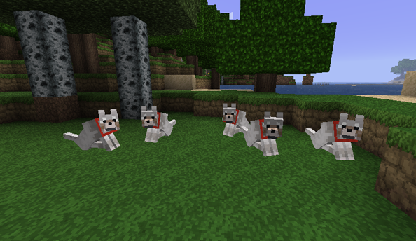 Minecraft snapshot 13w18c inaugurates the coal block, stops dogs snarling perpetually