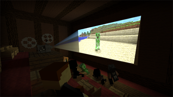 Test shots of the Minecraft movie.
