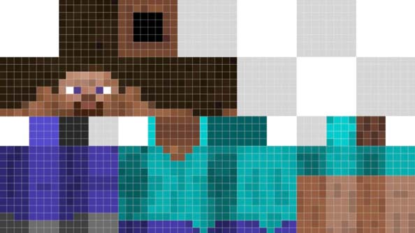 Minecraft protagonist Steve is 32 by 64 pixels, apparently.
