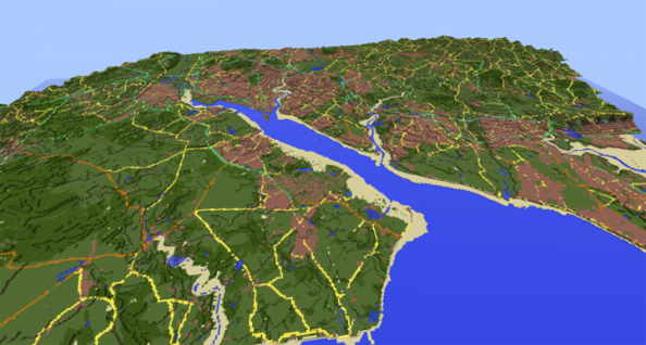 Ordnance survey recreate great britain in largest minecraft world southampton water and environs gumiabroncs Image collections
