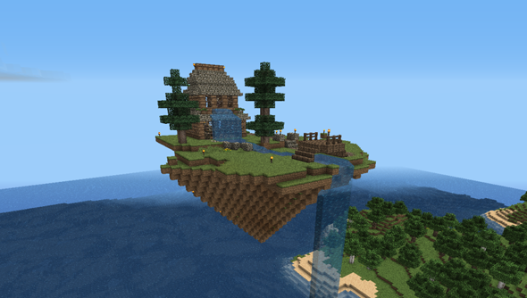 Minecraft 1.8: the return of floating islands.