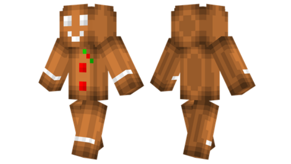Gingerbread Man Minecraft Skin