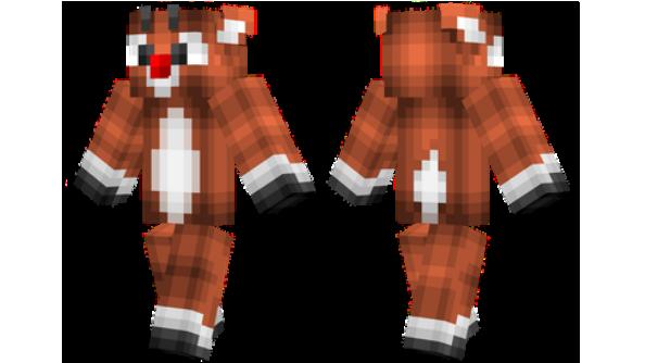 Rudolph Minecraft Christmas Skin