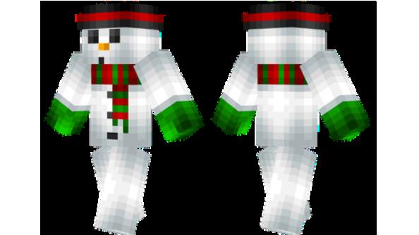Snowman Minecraft Christmas Skins