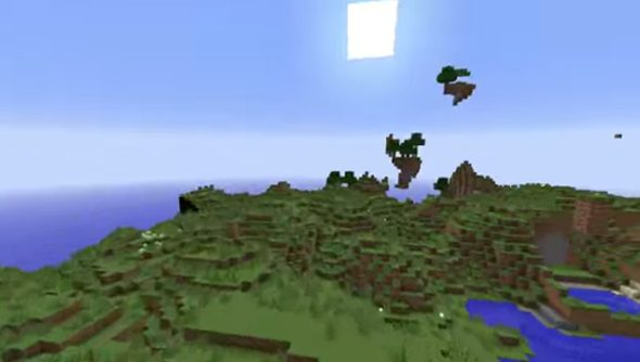 Floating islands are back in Minecraft 1.8 - but you will still need to devise a means to reach them.
